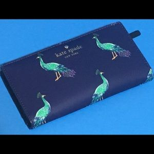 Kate Spade Peacock Stacy Bifold Wallet NWT